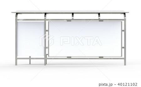 3D render bus shelter 40121102