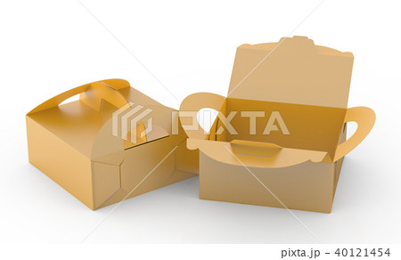 Golden box with handle 40121454