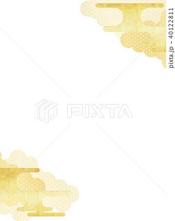 和-背景-金箔-雲 40122811