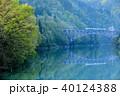 只見線 新緑 川の写真 40124388