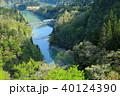 只見線 新緑 只見川の写真 40124390