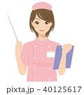 女性 看護師 カルテのイラスト 40125617