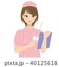 女性 看護師 ナースのイラスト 40125618