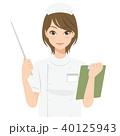 女性 看護師 カルテのイラスト 40125943