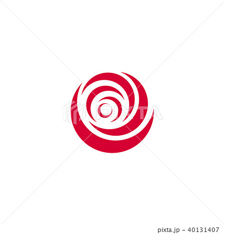 red abstract rose vector logo template on white background stylish