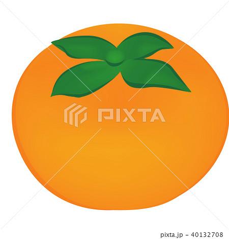 柿 イラストのイラスト素材 40132708 Pixta