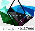 ジオメトリック 幾何学的 背景のイラスト 40137990