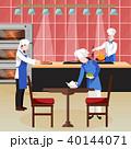 シェフ クッキング 料理のイラスト 40144071