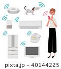 AI家電のある暮らし イラスト 女性 40144225