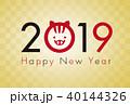 年賀状 年賀2019 ベクターのイラスト 40144326