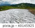 山 残雪 飯豊連峰の写真 40145925