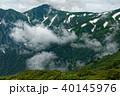 飯豊連峰・切合小屋付近から見る雲湧く大日岳 40145976