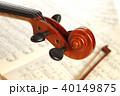 楽譜とヴァイオリン 40149875