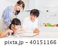 若い 家族 お絵かきの写真 40151166