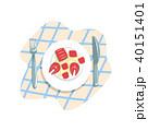 魚 ベクトル お皿のイラスト 40151401