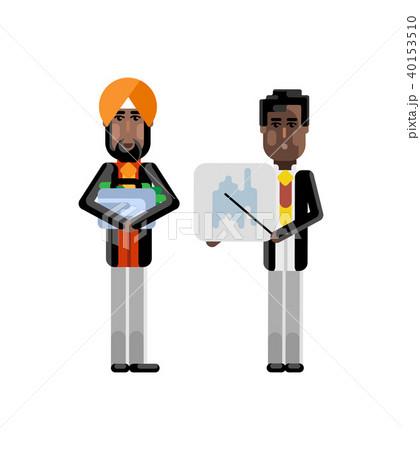African businessman showing financial diagram 40153510