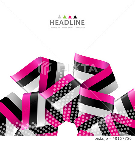 brochure header layout templateのイラスト素材 40157756 pixta