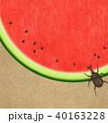 夏 スイカ 和紙のイラスト 40163228