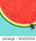夏 スイカ 和紙のイラスト 40163303