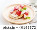 パンケーキ ホットケーキ デザートの写真 40163572