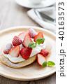 パンケーキ ホットケーキ デザートの写真 40163573