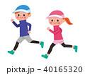 ジョギング 男女 走るのイラスト 40165320