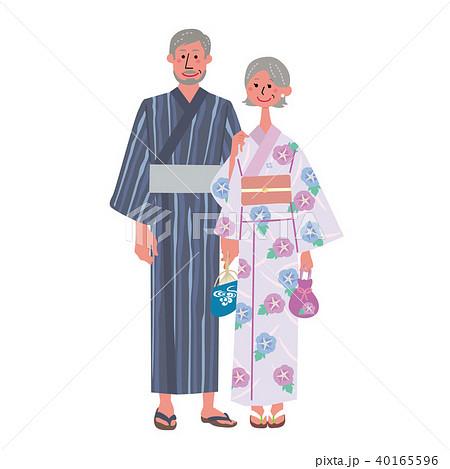 浴衣のシニア イラスト 40165596