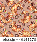 チョコレート 柄 クロワッサンのイラスト 40166278