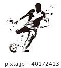 サッカー選手 サッカー スポーツのイラスト 40172413
