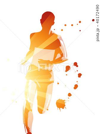 マラソンランナーのイラスト素材 40172490 Pixta
