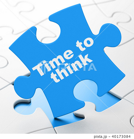 Timeline concept: Time To Think on puzzle background 40173084