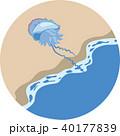 カツオノエボシ 海 電気クラゲのイラスト 40177839