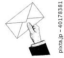 手 レター 文字のイラスト 40178381