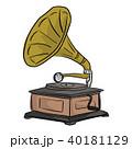 レトロ 蓄音機 ベクトルのイラスト 40181129