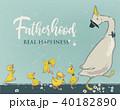 family of cute farm birds 40182890
