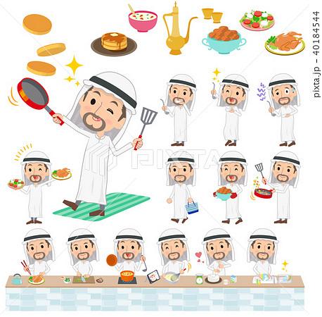 Arab Kandura wearing men_cooking 40184544