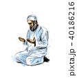 ムスリム 人 男のイラスト 40186216