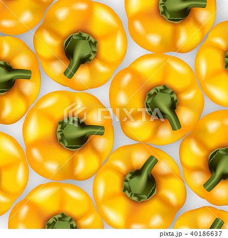 Bell pepper top view pattern. 40186637