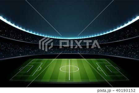 サッカースタジアム 1 ベクターイラストレーション 40193152