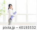 ヨガ ヨガマット 女性の写真 40193532