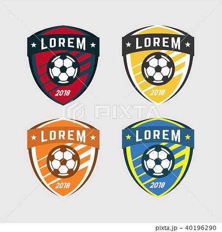 soccer logo or football club sign badge set のイラスト素材 40196290