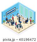 サービス レストラン 飲食店のイラスト 40196472