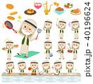 Arab Kandura wearing old men_cooking 40196624