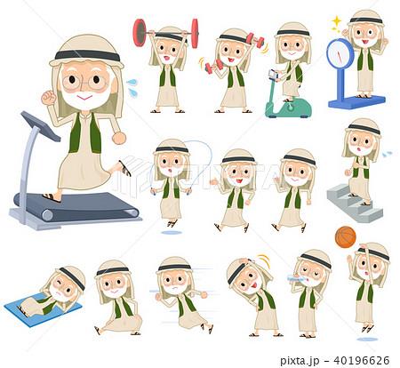 Arab Kandura wearing old men_exercise 40196626