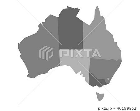 vector grey blank map of australiaのイラスト素材 40199852 pixta