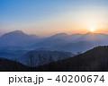 由布岳 夜明け 朝日の写真 40200674