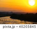 多摩川 川 夕暮の写真 40203845