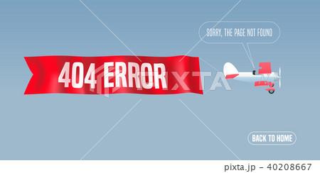 template 404 error page vector illustrationのイラスト素材 40208667