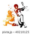 野球 バッター キャッチャーのイラスト 40210125