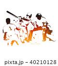 野球 バッター キャッチャーのイラスト 40210128